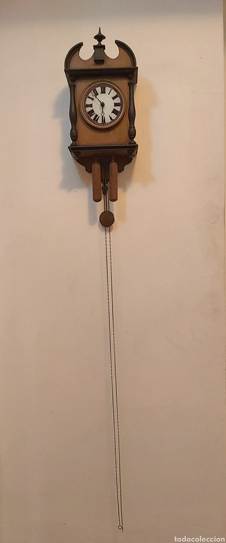 Relojes de pared: RELOJ DE PARED CON PÉNDULO S.XIX - Foto 2 - 192678116