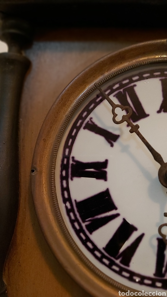 Relojes de pared: RELOJ DE PARED CON PÉNDULO S.XIX - Foto 6 - 192678116