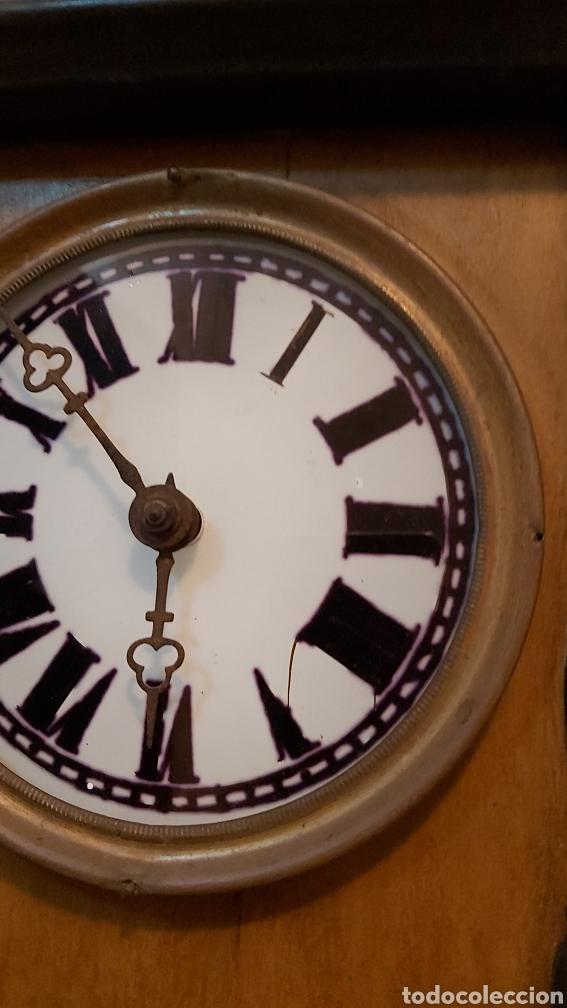 Relojes de pared: RELOJ DE PARED CON PÉNDULO S.XIX - Foto 17 - 192678116