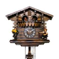 Relojes de pared: ANTIGUO RELOJ DE CUCU SELVA NEGRA,DE TRES PESAS , EXCELENTE ESTADO Y FUNCIONANDO. Lote 192736870