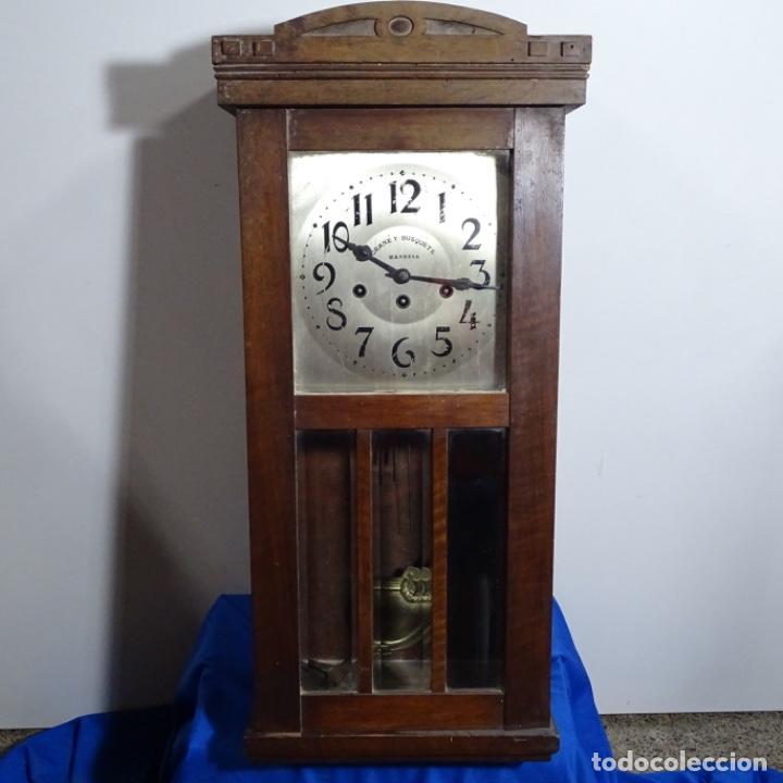 ANTIGUO RELOJ DE PARED GRANÉ Y BUSQUETS MANRESA. (Relojes - Pared Carga Manual)