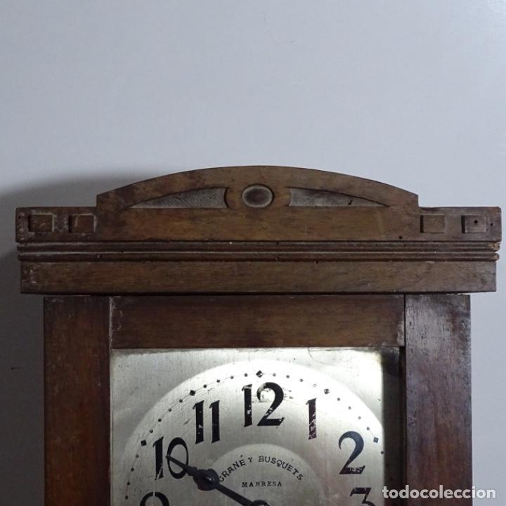 Relojes de pared: Antiguo reloj de pared grané y busquets Manresa. - Foto 3 - 192755848