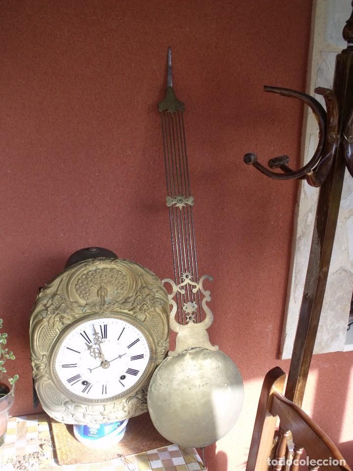 ¡¡GRAN OFERTA 149,99 €!! ANTIGUO RELOJ DE PESAS MOREZ -AÑO 1880-REPITE HORAS- LOTE 145 (Relojes - Pared Carga Manual)