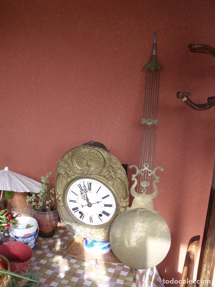 Relojes de pared: ¡¡GRAN OFERTA 149,99 €!! Antiguo RELOJ DE PESAS MOREZ -año 1880-REPITE HORAS- LOTE 145 - Foto 2 - 193684208