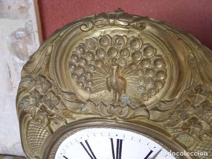 Relojes de pared: ¡¡GRAN OFERTA 149,99 €!! Antiguo RELOJ DE PESAS MOREZ -año 1880-REPITE HORAS- LOTE 145 - Foto 3 - 193684208