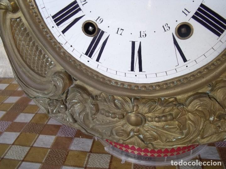 Relojes de pared: ¡¡GRAN OFERTA 149,99 €!! Antiguo RELOJ DE PESAS MOREZ -año 1880-REPITE HORAS- LOTE 145 - Foto 4 - 193684208
