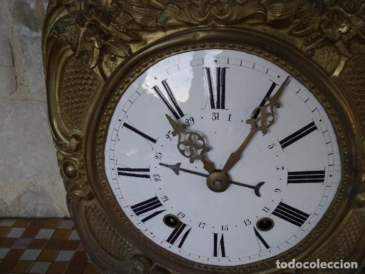 Relojes de pared: ¡¡GRAN OFERTA 149,99 €!! Antiguo RELOJ DE PESAS MOREZ -año 1880-REPITE HORAS- LOTE 145 - Foto 5 - 193684208