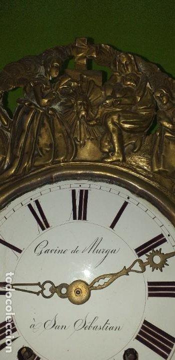 Relojes de pared: ANTIGUO RELOJ MOREZ SIGLO XIX - Foto 7 - 88100024
