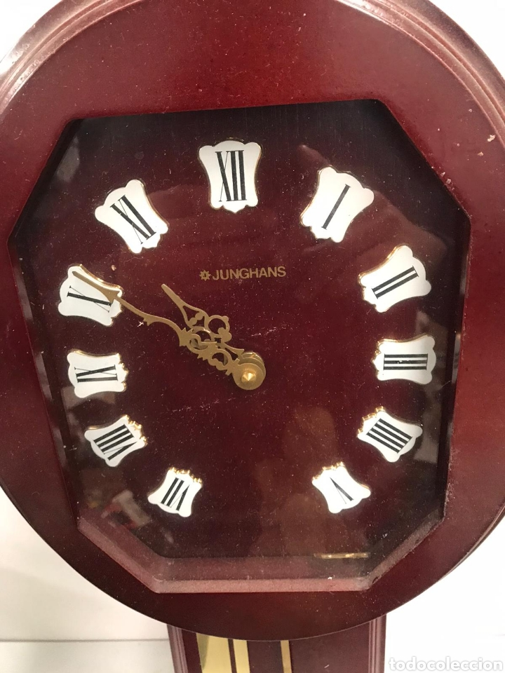 Relojes de pared: Antiguo reloj junghans de pared - Foto 2 - 194198008