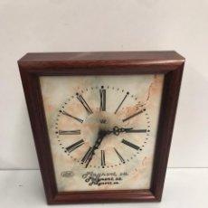 Relojes de pared: RELOJ CON PUBLICIDAD. Lote 194210413