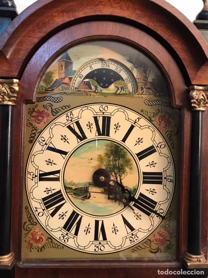RARO RELOJ HOLANDÉS WUBA CON FASES LUNARES Y TRES PESAS. (Relojes - Pared Carga Manual)