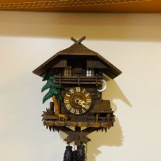 Relojes de pared: ANTIGUO RELOJ DE CUCO FUNCIONA BIEN REPARADO POR RELOJERO. Lote 194366371