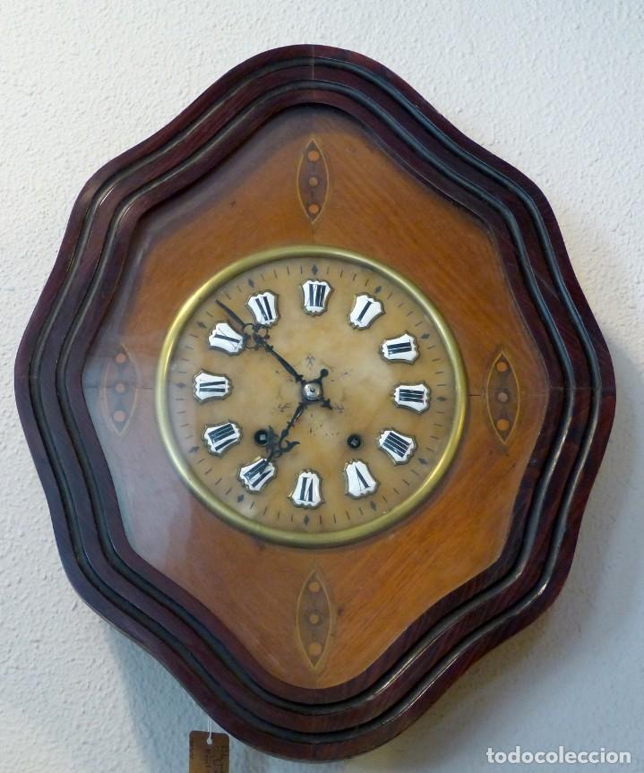 RELOJ DE MEDIADOS DEL SIGLO XIX (Relojes - Pared Carga Manual)