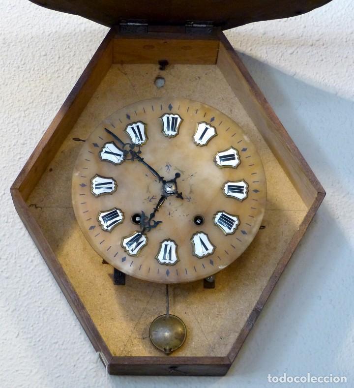Relojes de pared: Reloj de mediados del Siglo XIX - Foto 8 - 194385960