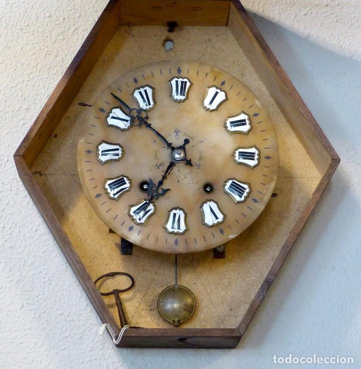 Relojes de pared: Reloj de mediados del Siglo XIX - Foto 9 - 194385960