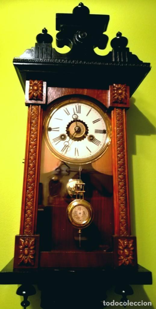 Relojes de pared: RELOJ DE PARED 60x23 cm pendulo R=A ESFERA DE 11 CM - Foto 4 - 194405947