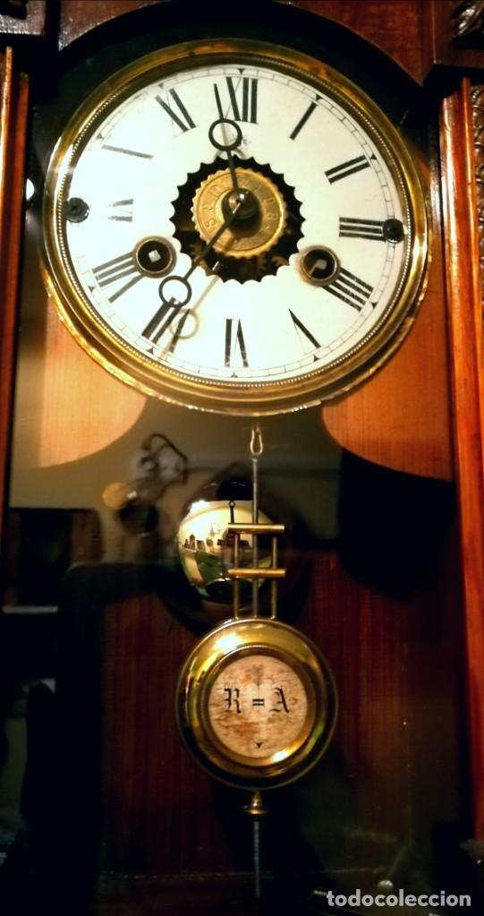 Relojes de pared: RELOJ DE PARED 60x23 cm pendulo R=A ESFERA DE 11 CM - Foto 5 - 194405947