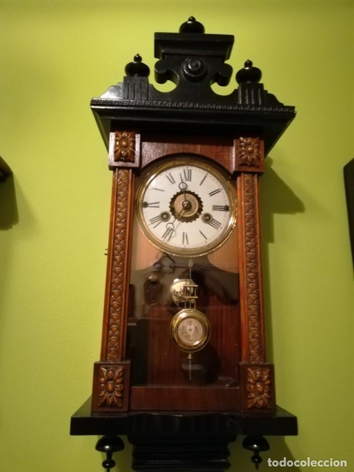 Relojes de pared: RELOJ DE PARED 60x23 cm pendulo R=A ESFERA DE 11 CM - Foto 6 - 194405947