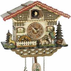 Relojes de pared: ORIGINAL SCHWARZWALD-KUCKUCKSUHR JÄGER BEWEGLICH,MÜHLENRAD DREHT-12 MELODIEN-CUCKOO CLOCK. Lote 194539343