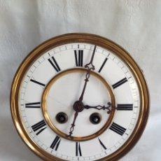 Relojes de pared: ANTIGUA MAQUINARIA CON SONERIA ESFERA PORCELANA. Lote 194550878