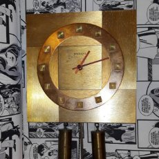 Relojes de pared: ANTIGUO RELOJ DE PARED COMPLETO MARCA RADIANT ORIGINAL . Lote 194613838