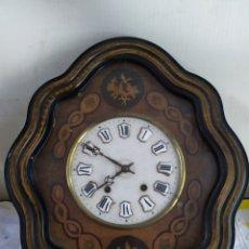 Relojes de pared: ANTIGUO RELOJ OJO DE BUEY ESFERA DE ALABASTRO CON MARQUETERÍA SIGLO XIX. Lote 194649870