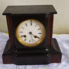 Relojes de pared: ANTIGUO RELOJ FRANCÉS MÁRMOL NEGRO SIGLO XIX. Lote 194669551