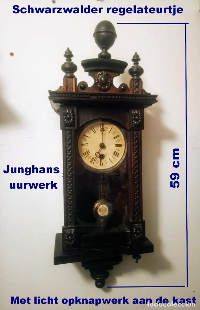 REGULADOR SELVA NEGRO CON LEVE TRABAJOS DE RENOVACIÓN. (Relojes - Pared Carga Manual)