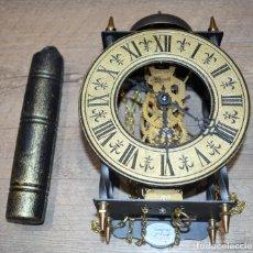 Relojes de pared: RELOJ ALEMAN DE PARED TEMPUS FUGIT FRANZ HERMLE - 8 DIAS FALTANDO EL PENDULO - RESTAURAR. Lote 194781267