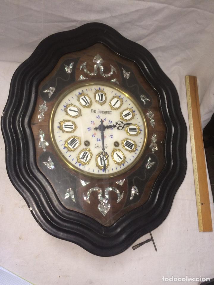 PRECIOSO RELOJ ANTIGUO OJO DE BUEY! (Relojes - Pared Carga Manual)