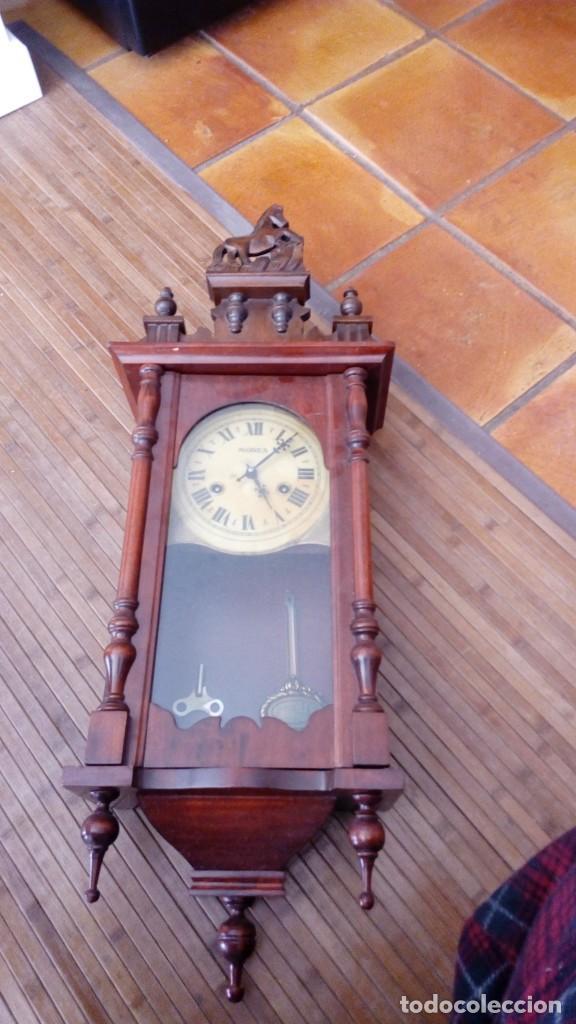Relojes de pared: Reloj de pared péndulo mores desconozco año leer - Foto 2 - 195300356