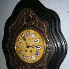 Relojes de pared: RELOJ DE OJO DE BUEY CON INCRUSTACIONES DE NACAR SIGLO XIX. Lote 195394497