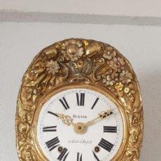 Relojes de pared: RELOJ MOREZ ANTIGUO DE PÉNDULO REAL MUY DETALLADO FUNCIONA ALTA COLECCIÓN . Lote 195435127