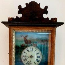 Relojes de pared: RELOJ RATERA S XIX MOTIVO CACERÍA. Lote 195495163