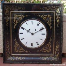 Relojes de pared: RELOJ ISABELINO OJO DE BUEY, S. XIX. MÁQUINA ALEMANA DE R. MAURER, SINSENBACH. Lote 195504977