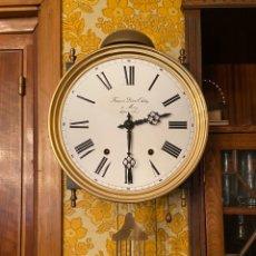 Relojes de pared: RELOJ FRANCÉS MOREZ PÉNDULO LIRA. Lote 195587181