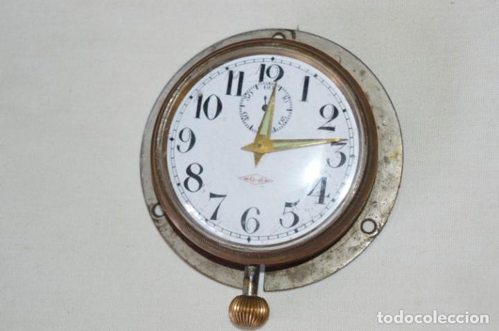 Relojes de pared: G. J . - Antiguo reloj de BARCO / AVIÓN - De carga manual / Funcionando - Marca G.J. ¡Mira fotos! - Foto 2 - 196473851