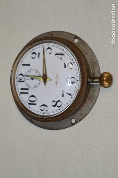 Relojes de pared: G. J . - Antiguo reloj de BARCO / AVIÓN - De carga manual / Funcionando - Marca G.J. ¡Mira fotos! - Foto 3 - 196473851