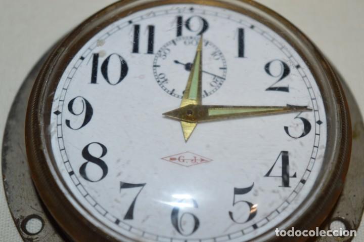 Relojes de pared: G. J . - Antiguo reloj de BARCO / AVIÓN - De carga manual / Funcionando - Marca G.J. ¡Mira fotos! - Foto 4 - 196473851