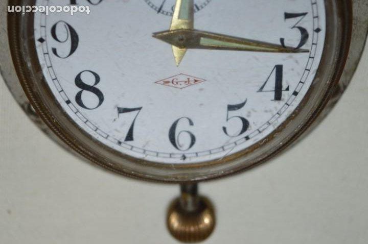 Relojes de pared: G. J . - Antiguo reloj de BARCO / AVIÓN - De carga manual / Funcionando - Marca G.J. ¡Mira fotos! - Foto 5 - 196473851