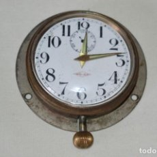 Relojes de pared: G. J . - ANTIGUO RELOJ DE BARCO / AVIÓN - DE CARGA MANUAL / FUNCIONANDO - MARCA G.J. ¡MIRA FOTOS!. Lote 196473851