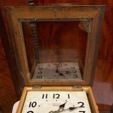 Relojes de pared: RELOJ COÑAC 000. OSBORNE. PRINCIPIOS DEL SIGLO XX. CHAPA. PENDULO. MANUAL. MADERA. NUEVO. VER. Lote 196527675