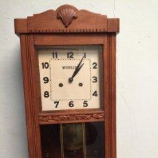 Relojes de pared: ANTIGUO RELOJ DE PARED DE MARCA ALEMÁN MARCA WITTLER AÑOS 50-60. Lote 197346321