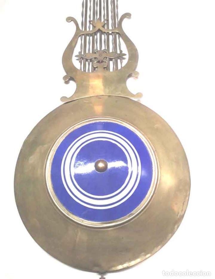 Relojes de pared: Péndulo de Lira reloj pared Morez siglo XIX, completo. Med. 98 cm - Foto 2 - 198194460