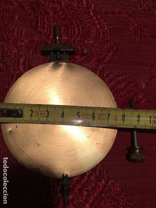Relojes de pared: Antiguo pendulo de latón para reloj de pared de los años 50-60 - Foto 7 - 198370060
