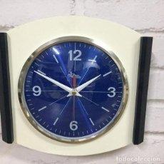 Relojes de pared: RELOJ DE PARED BIANCO BLEU BY DOMENICO E DOMENICONI ITALIA 1970`S. Lote 199053156