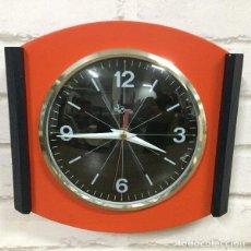 Relojes de pared: RELOJ DE PARED ROSSO NERO BY DOMENICO E DOMENICONI ITALIA 1970`S. Lote 199053971