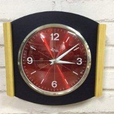 Relojes de pared: RELOJ DE PARED ROSSO BLEU BY DOMENICO E DOMENICONI ITALIA 1970`S. Lote 199054372