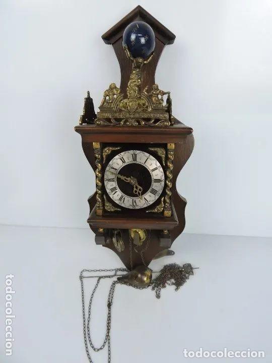ANTIGUO RELOJ HOLANDES ZAANCE (Relojes - Pared Carga Manual)