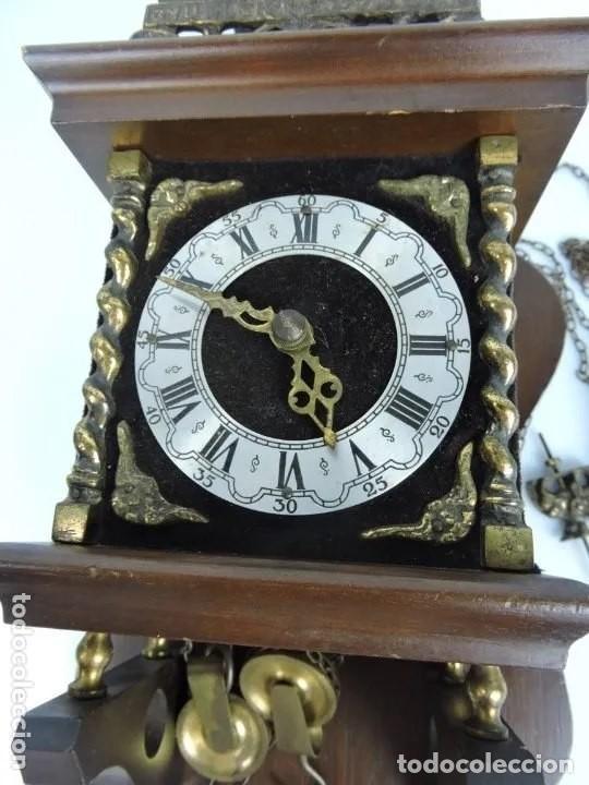 Relojes de pared: ANTIGUO RELOJ HOLANDES ZAANCE - Foto 2 - 199172148